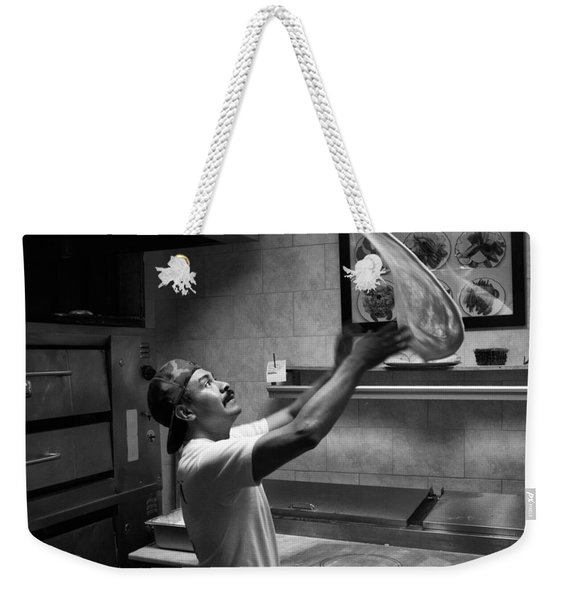 Pizza Toss Weekender Tote Bag