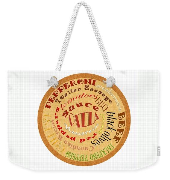 Pizza Typography 2 Weekender Tote Bag