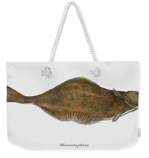Plaice Pleuronectes Platessa - Flat Fish Pleuronectiformes - Carrelet Plie - Solla - Punakampela Weekender Tote Bag