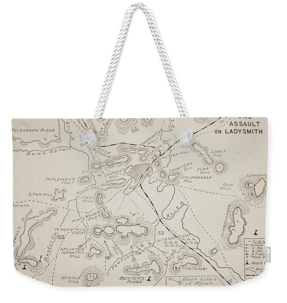 Plan Of The Assault On Ladysmith Weekender Tote Bag