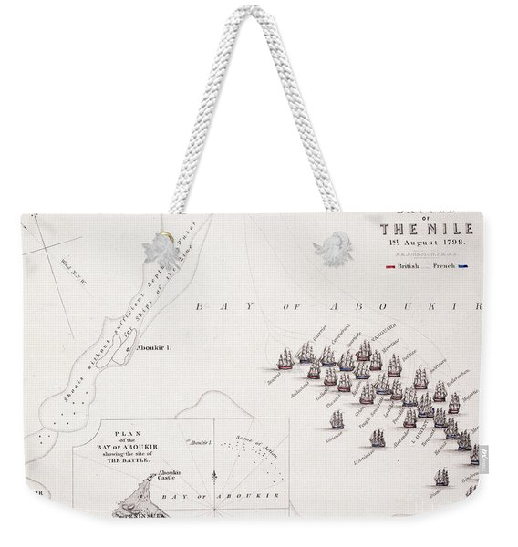 Plan Of The Battle Of The Nile Weekender Tote Bag