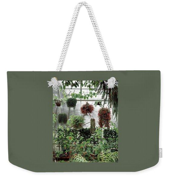 Plants Hanging In A Greenhouse Weekender Tote Bag