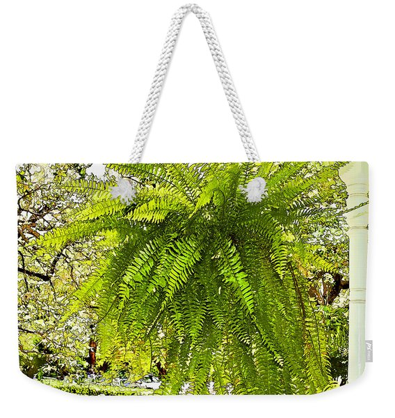 Showy Southern Fern - Luther Fine Art Weekender Tote Bag