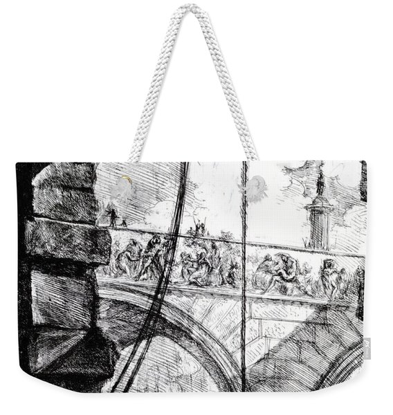 Plate 4 From The Carceri Series Weekender Tote Bag