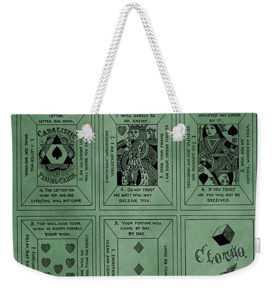 Playing Cards Patent Green Weekender Tote Bag