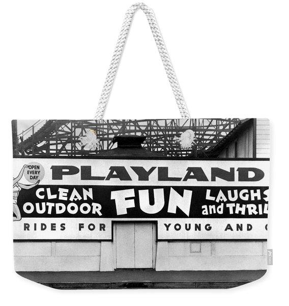 Playland At The Beach Weekender Tote Bag