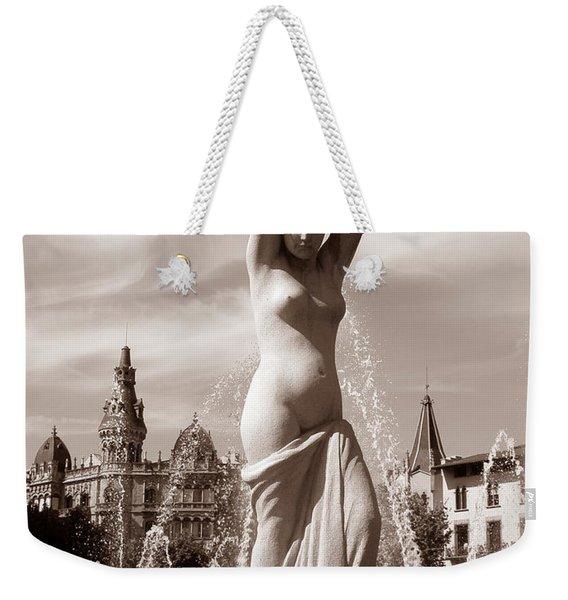 Plaza Cataluna Weekender Tote Bag