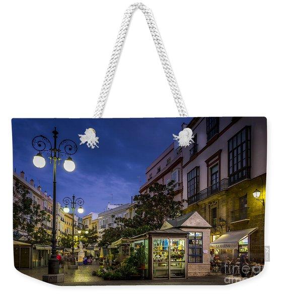 Plaza De Las Flores Cadiz Spain Weekender Tote Bag
