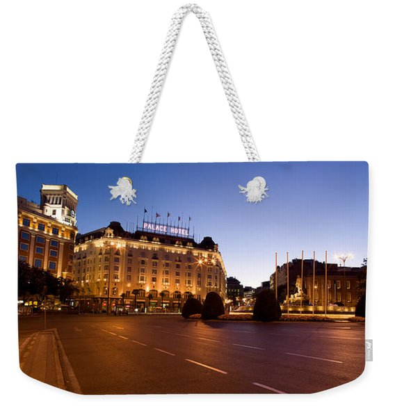 Plaza De Neptuno And Palace Hotel Weekender Tote Bag