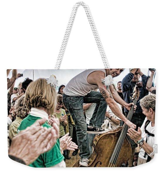 The Lost Bayou Ramblers Pleasing The Crowd Weekender Tote Bag