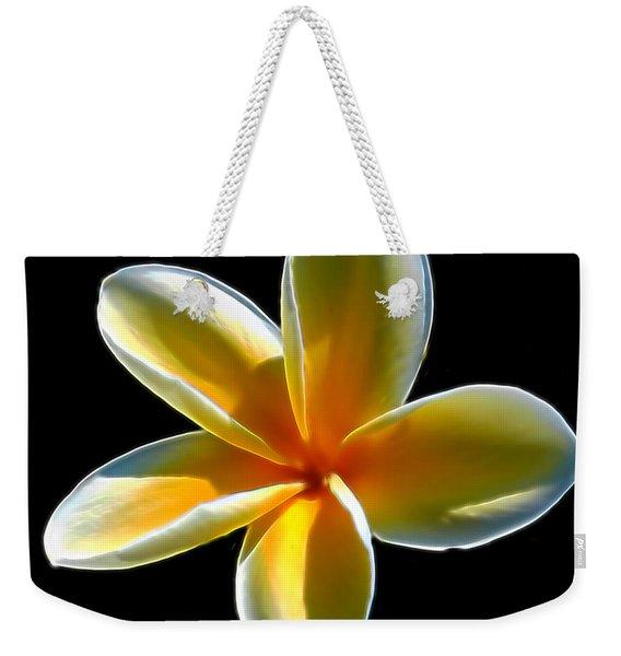 Plumeria Against Black Weekender Tote Bag