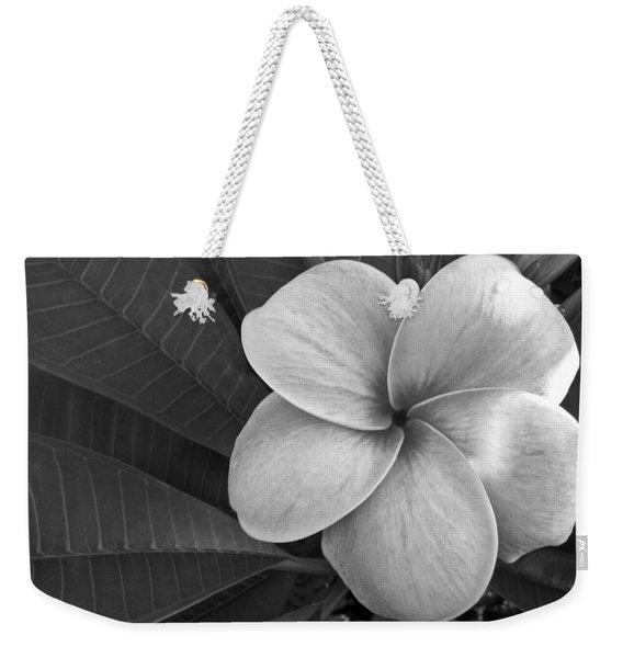 Plumeria With Raindrops Weekender Tote Bag
