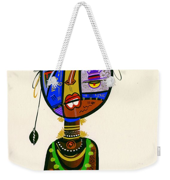 Poetic Faces Weekender Tote Bag