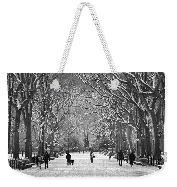 New York City - Poets Walk Winter Weekender Tote Bag