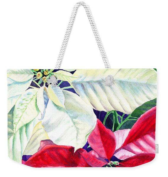 Poinsettia Christmas Collection Weekender Tote Bag