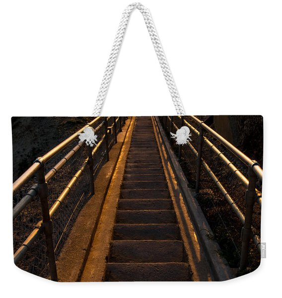 Point Reyes Lighthouse Staircase Weekender Tote Bag