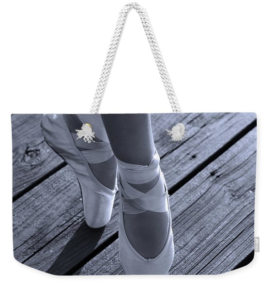 Pointe Shoes Bw Weekender Tote Bag