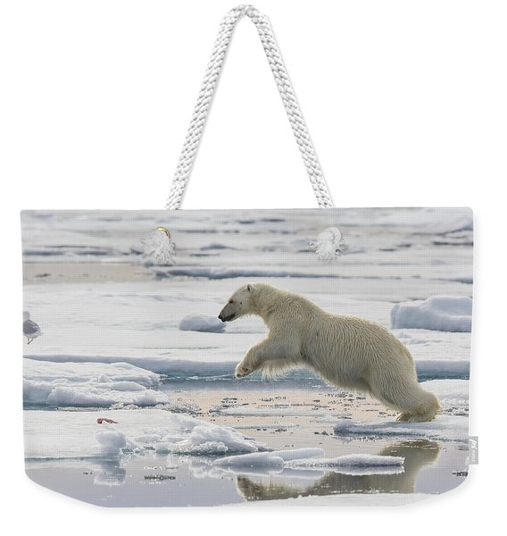 Polar Bear Jumping  Weekender Tote Bag