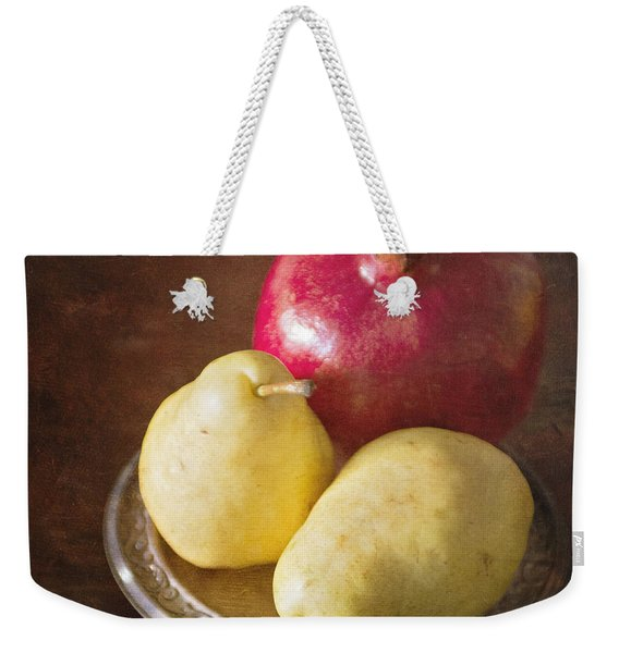 Pomegranate And Yellow Pear Still Life Weekender Tote Bag