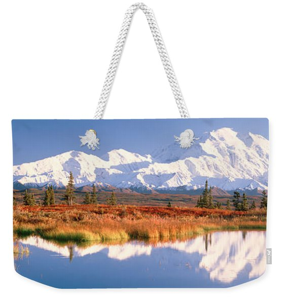 Pond, Alaska Range, Denali National Weekender Tote Bag