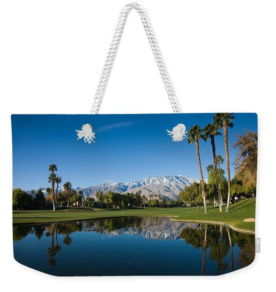 Pond In A Golf Course, Desert Princess Weekender Tote Bag