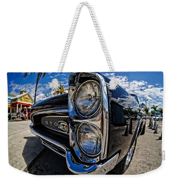 Pontiac Gto Convertible Ft Myers Beach Florida Weekender Tote Bag