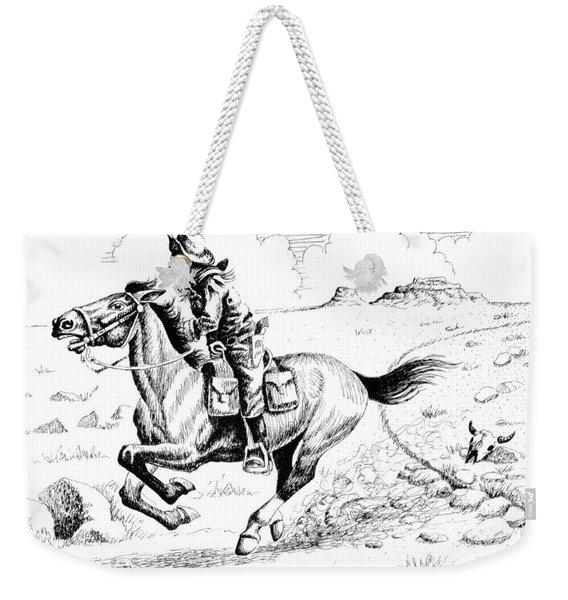 Pony Express Rider Weekender Tote Bag