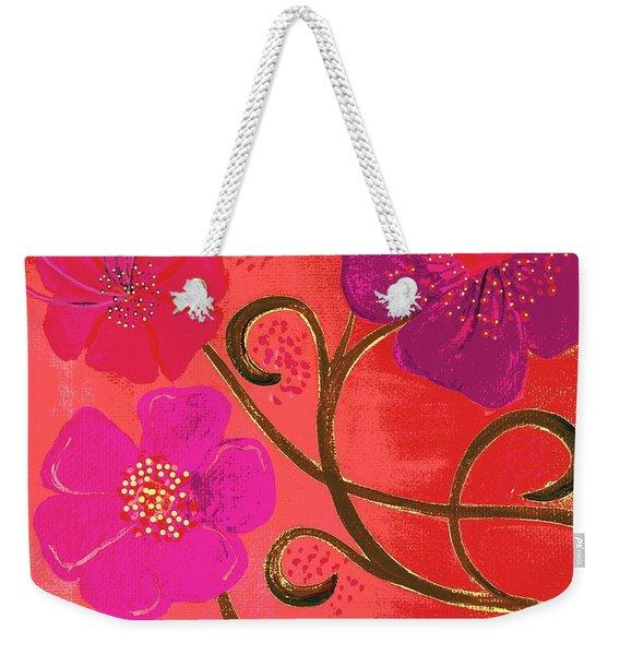 Pop Spring Purple Flowers Weekender Tote Bag