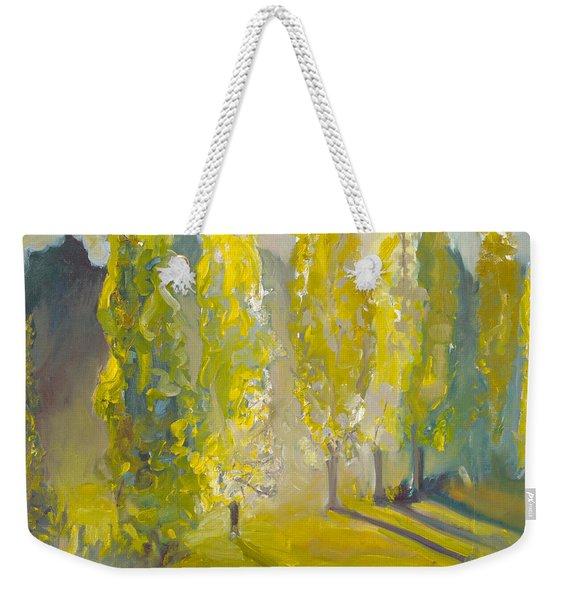 Poplars In The Morning Weekender Tote Bag
