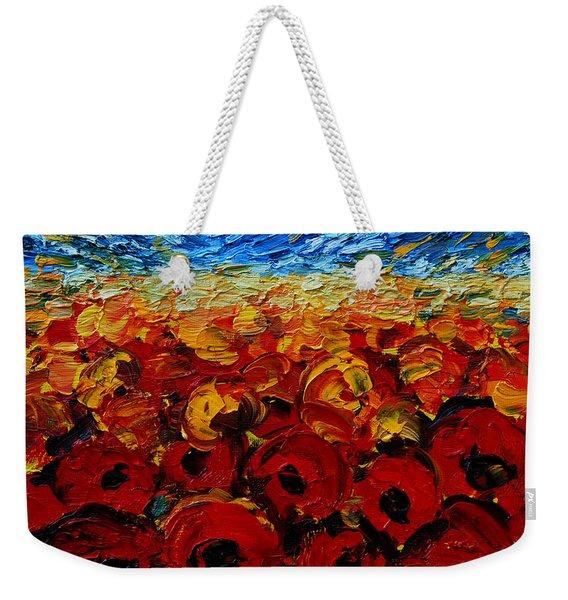 Poppies 2 Weekender Tote Bag