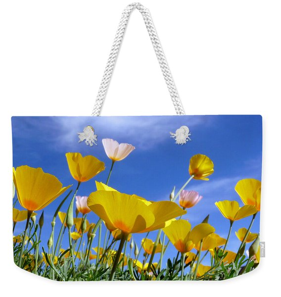 Poppies And Blue Arizona Sky Weekender Tote Bag