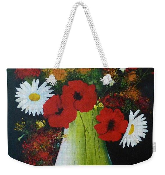 Poppies And Daisies Weekender Tote Bag