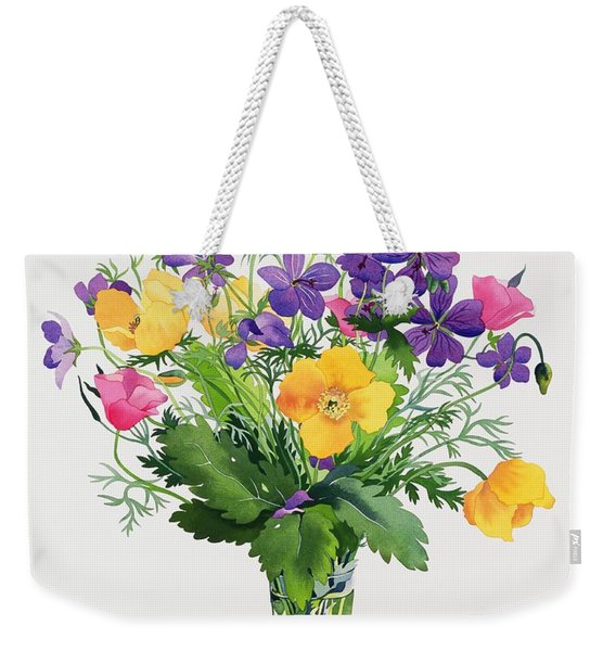 Poppies And Geraniums Weekender Tote Bag
