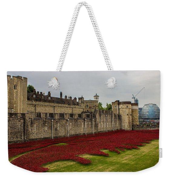 Poppies Tower Of London Weekender Tote Bag