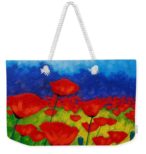 Poppy Corner II Weekender Tote Bag