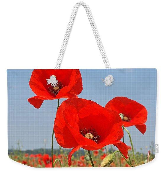 Poppy Fields 4 Weekender Tote Bag