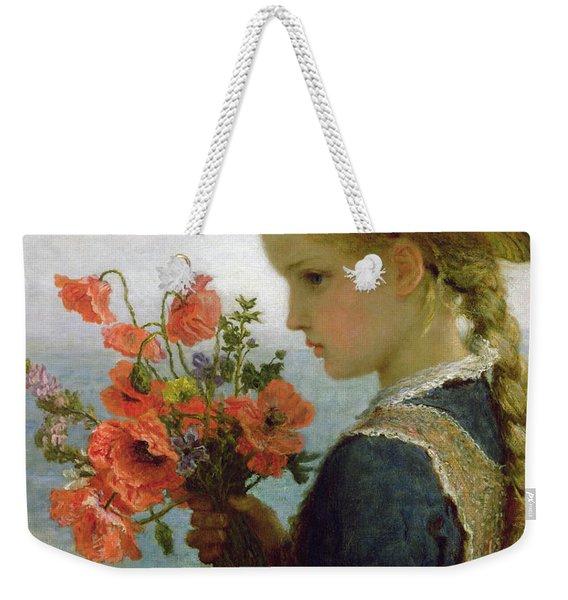 Poppy Girl Weekender Tote Bag