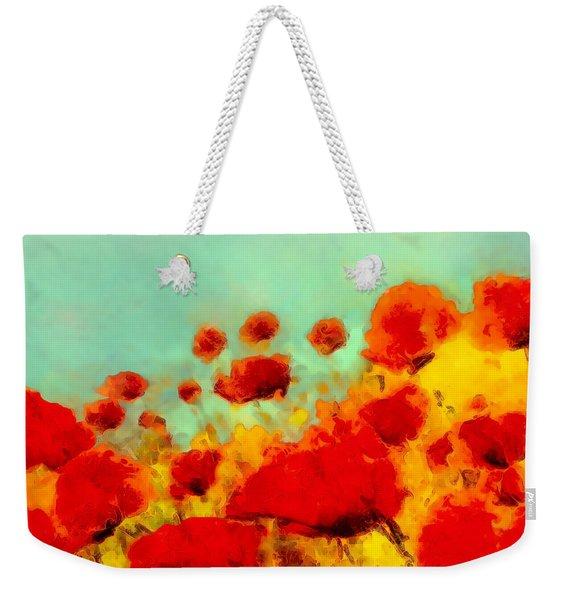 Poppy Time Weekender Tote Bag