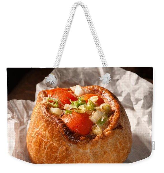 Pork Pie Weekender Tote Bag