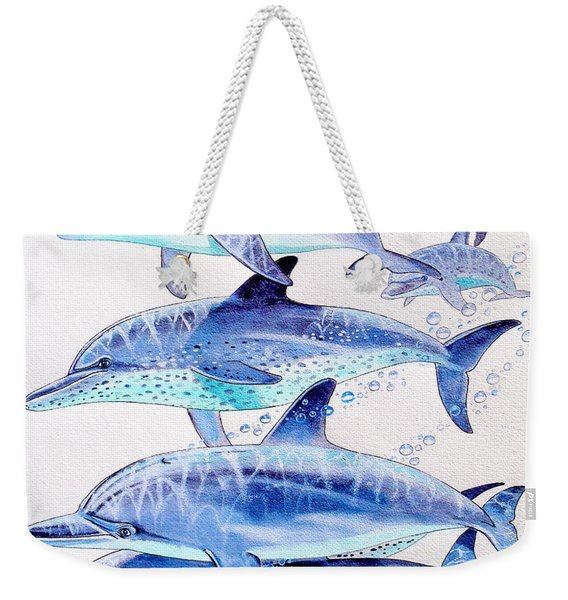 Porpoise Play Weekender Tote Bag