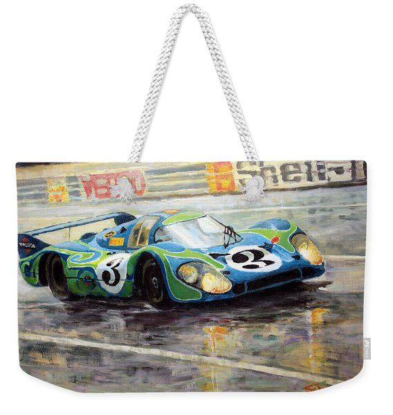 Porsche Psychedelic 917lh  1970  Le Mans 24  Weekender Tote Bag