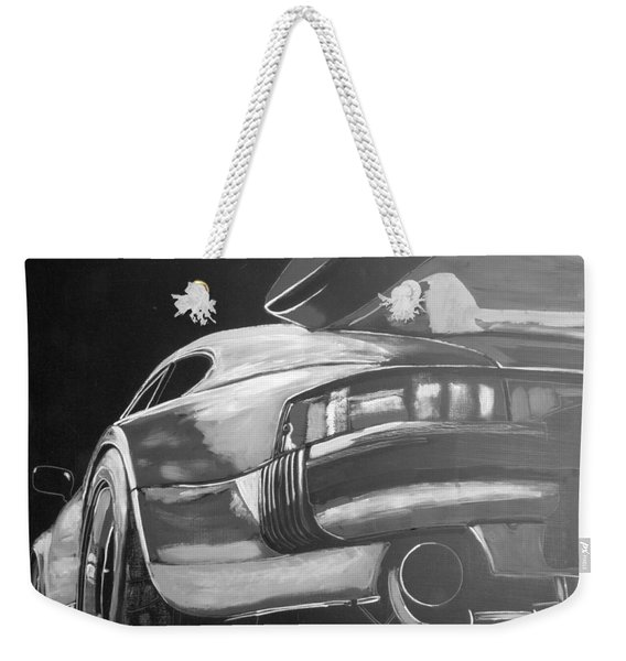 Weekender Tote Bag featuring the painting Porsche Turbo by Richard Le Page
