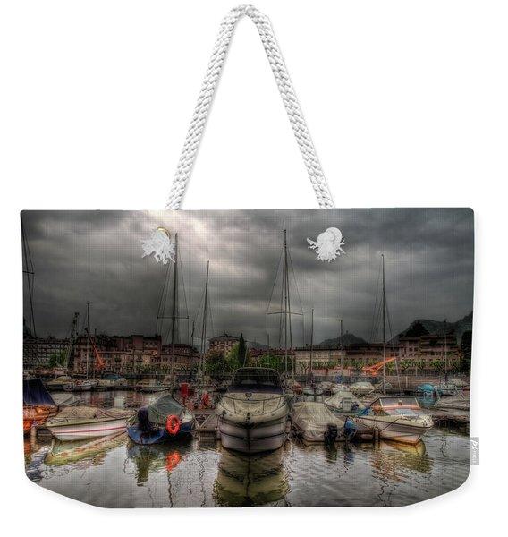 Port At Como Lake Weekender Tote Bag