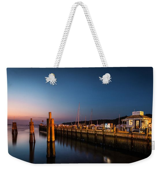 Weekender Tote Bag featuring the photograph Port Jefferson by Mihai Andritoiu