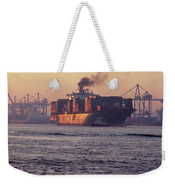 Port Of Hamburg, Germany Large Weekender Tote Bag