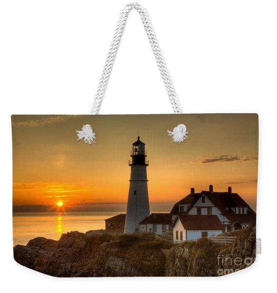 Portland Head Light At Sunrise II Weekender Tote Bag