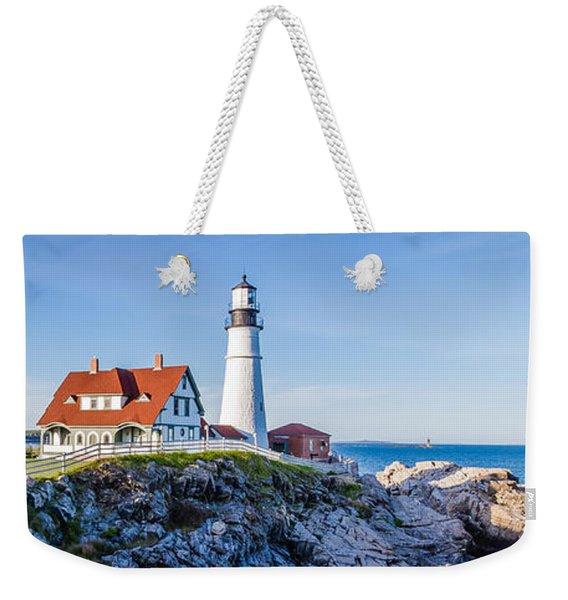 Portland Head Light House Cape Elizabeth Maine Weekender Tote Bag