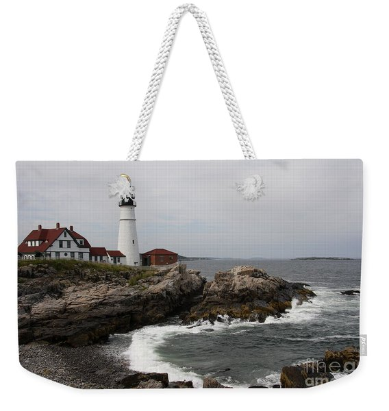 Portland Head Light - M E Weekender Tote Bag