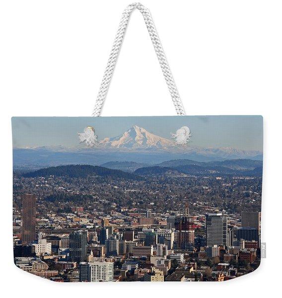 Portland Oregon And Mt. Hood Weekender Tote Bag