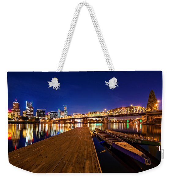 Portland Under The Stars Weekender Tote Bag